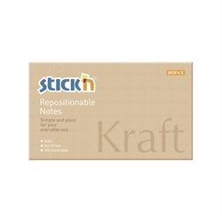 Stick'n Notes 100 ark, natur - 76x127 mm