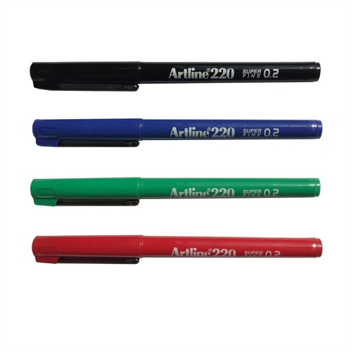 Artline 220 Super Fine - 0.2 - Black