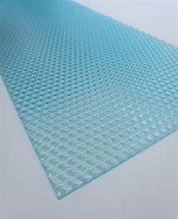Transparent akrylplade 3 mm. 200x500 mm - Honeycomb